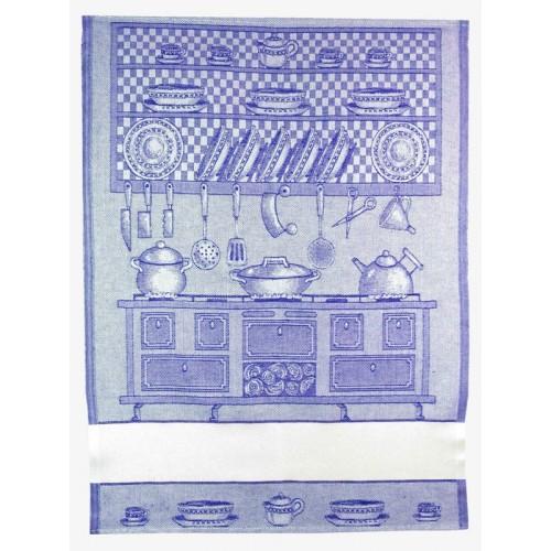 Paño de Cocina En Los Fogones Azul