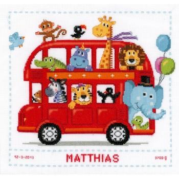 Natalicio Autobús Londinense con Animales