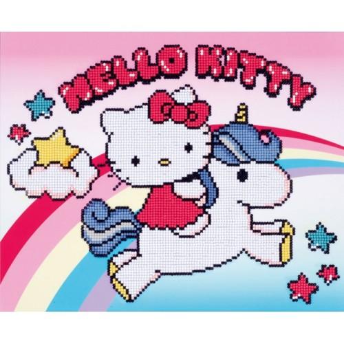 Hello Kitty y Unicornio con Diamantes