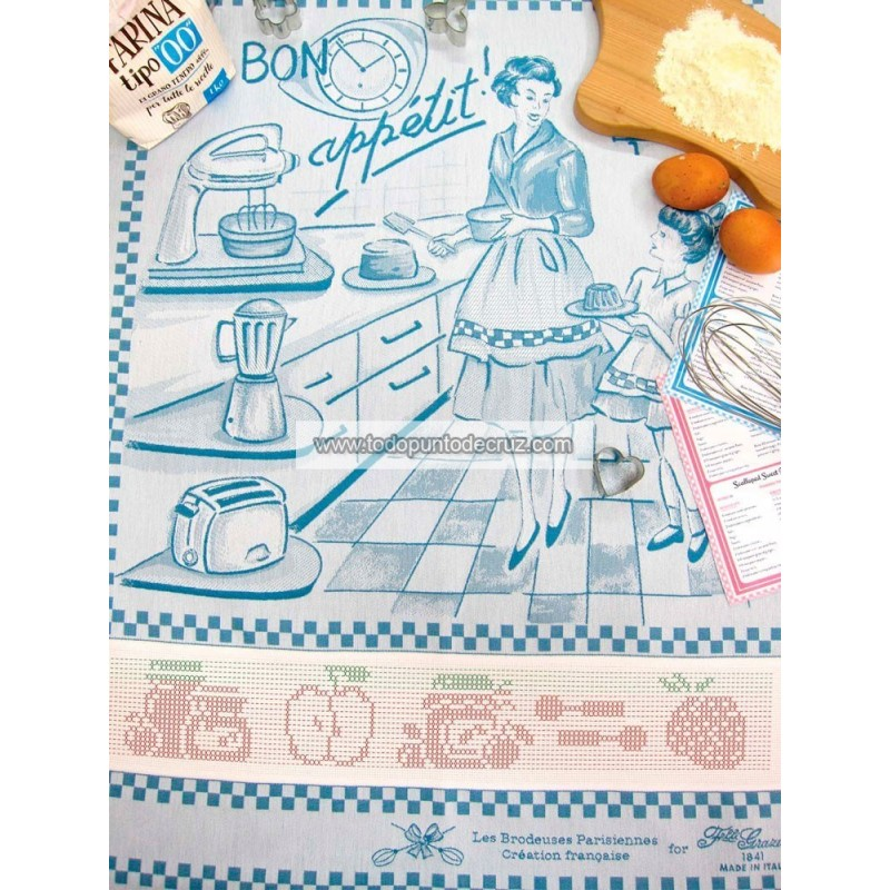 Paño de Cocina Bon Appetit Turquesa