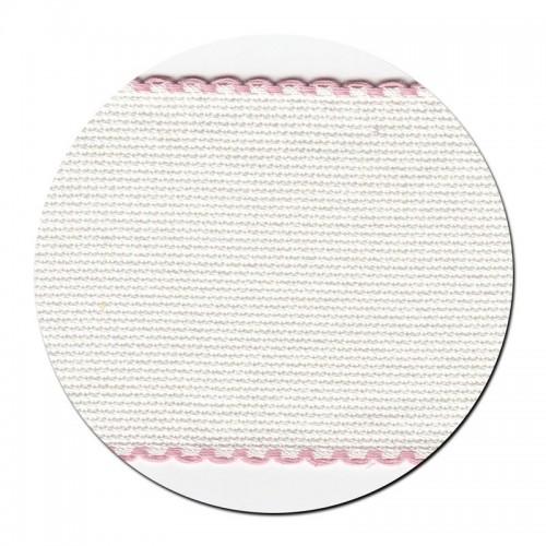 Entredos Blanco con Ribete Rosa 8 cm.