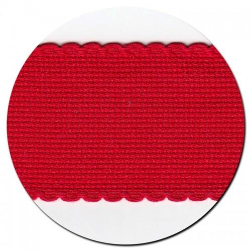 Entredos Rojo con ribete rojo ancho 5 cm.
