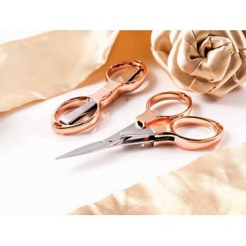 Tijeras Plegables Oro Rosa