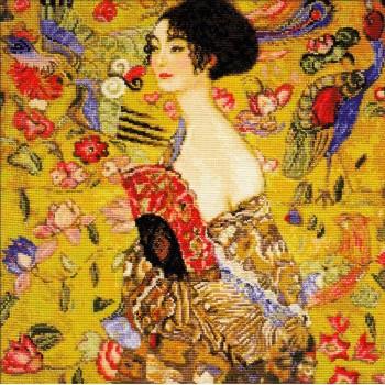 La Dama del Abanico (Klimt)