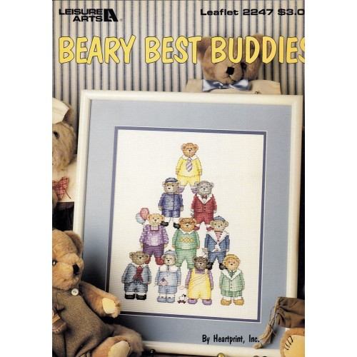 Los Mejores Amigos Osos Leisure Arts 2247 Beary Best Buddies