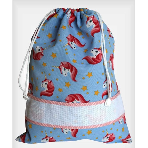 Bolsa Guardería Estampada Unicornios