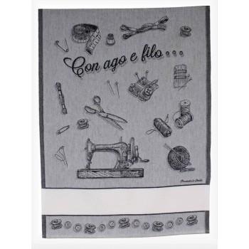 Paño de Cocina con Aguja e Hilo Negro BM Ricami 397-90