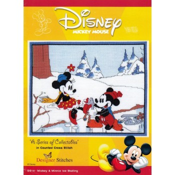 Mickey Mouse: Mickey y Minnie Patinaje sobre Hielo Designer Stitches DS13 Disney Ice Skating