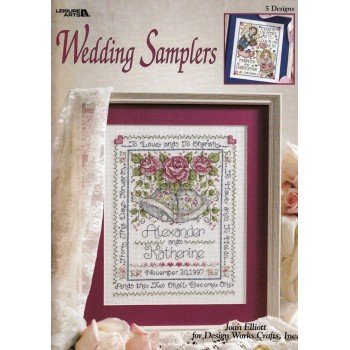Recuerdos de Boda Leisure Arts 3065 Wedding Samplers Joan Elliott