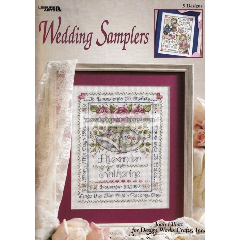 Recuerdos de Boda Leisure Arts 3065 Wedding Samplers Joan Elliott