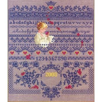 Abecedario Rosas y Damas Lavender Lace LL64 Fallen Roses