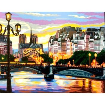 Anochecer en París