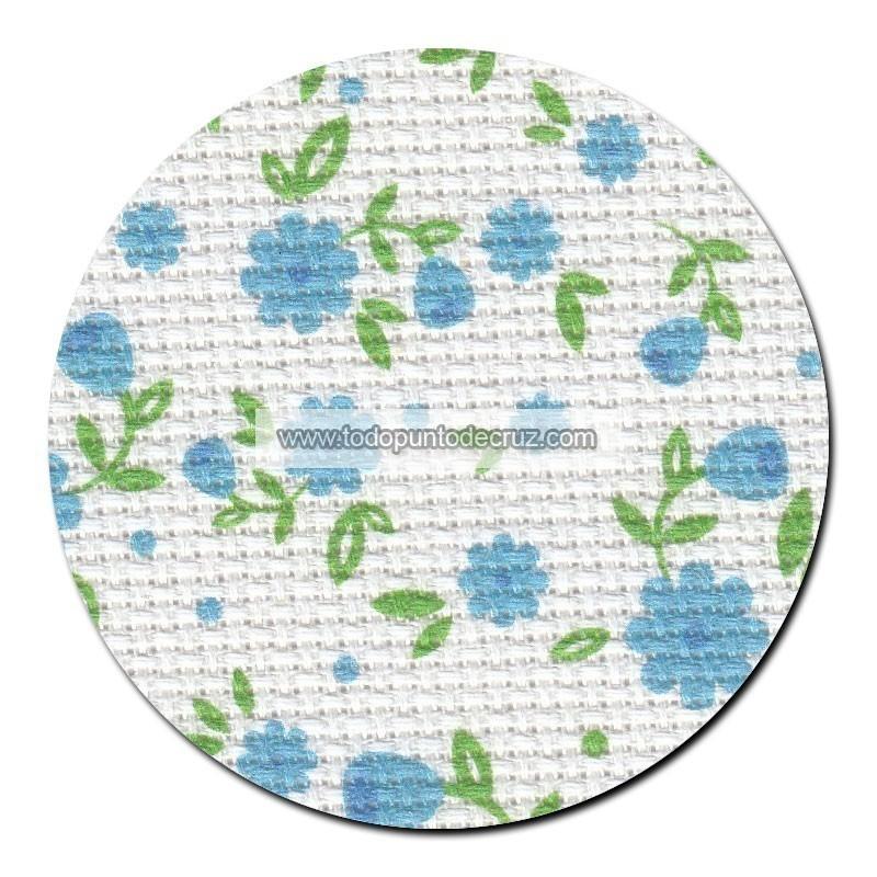 Tela aida 14 ct. Pequeñas Flores Azules MP Studia