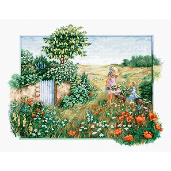 Recogiendo Flores Luca-S BU4013 Lanscape with Daisies