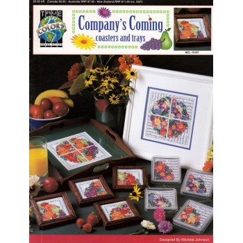 Posavasos y Bandejas True Colors BCL-10197 Company's Coming Coasters and Trays