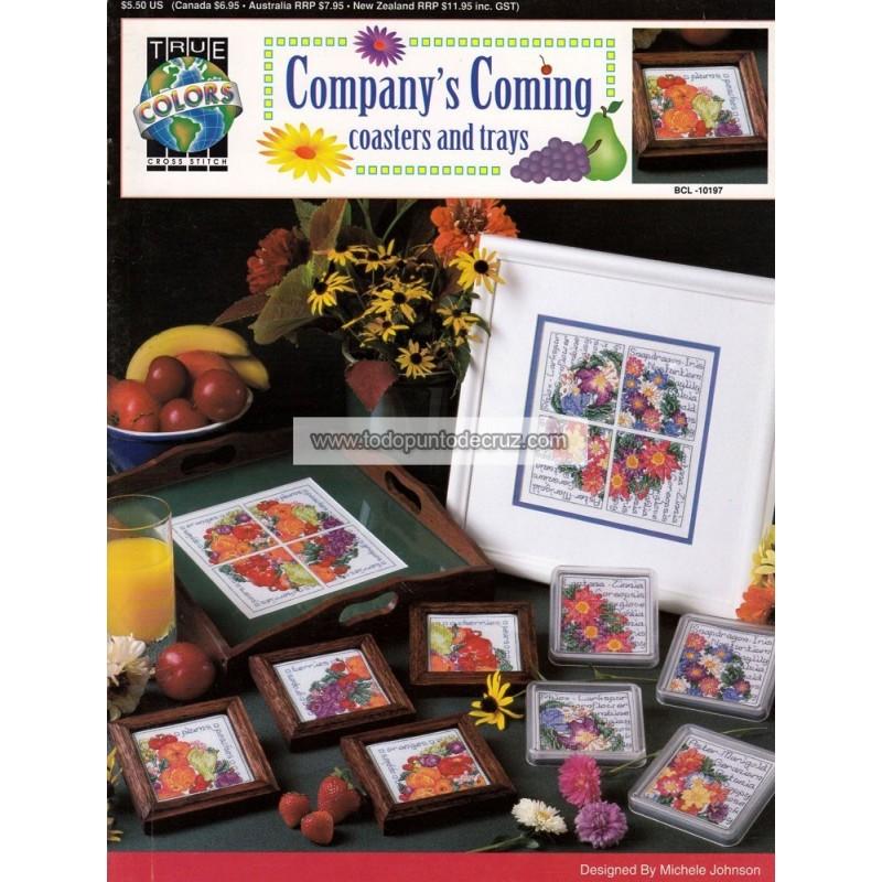 Posavasos y Bandejas True Colors BCL-10197 Company's Coming Coasters and Trays