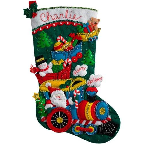 Bota Fieltro el Tren de Papá Noel