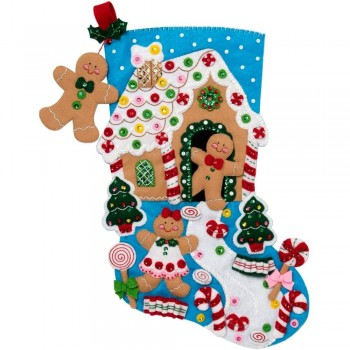 Bota Fieltro Sueños de Gengibre Bucilla 86898E Gingerbread Dreams Stocking