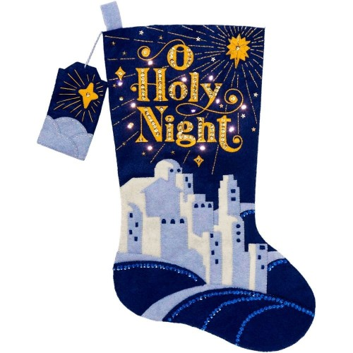 Bota Fieltro Noche de Paz (Con Luz) Bucilla 86888E O Holy Night Stocking