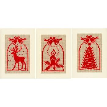 Postales Navideñas Campanas de Navidad Vervaco PN-0021444