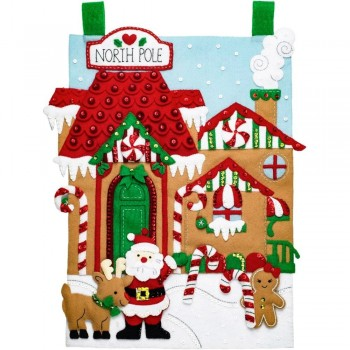 Colgador Fieltro Aldea del Polo Norte Bucilla 86946 North Pole Wall Hanging