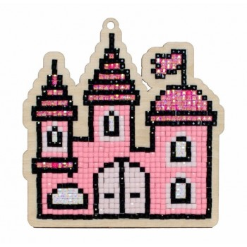 Castillo de princesas con diamantes Wizardi WW162  Princess Castle