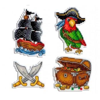 Imanes Barco Pirata MP Studia P-451 Pirate Ship Magnets