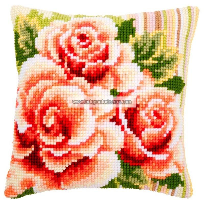 Cojín Suaves Rosas Vervaco PN-0147148 Pink Roses I Cushion