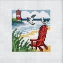 La Silla de Playa Roja Permin 14-5190 Red Beachchair