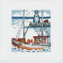 Barco y Faro Azul Permin 14-5193 Blue Lighthouse
