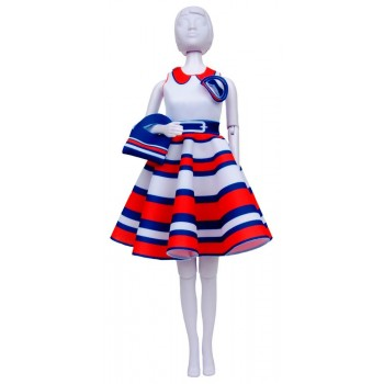 Dress Your Doll: Peggy Stripes Vervaco PN-0183233 Outfit