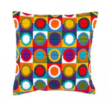 Cojín Círculos Multicolor