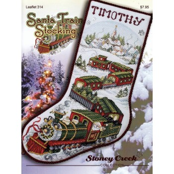 Bota el Tren de Santa Claus Stoney Creek 314 Santa Train Stocking