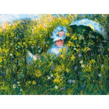 En la Pradera (Monet) Riolis 1850 In the Meadow