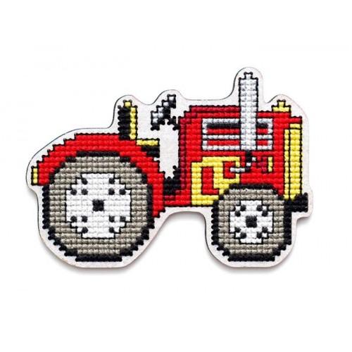 Imán Tractor en Madera