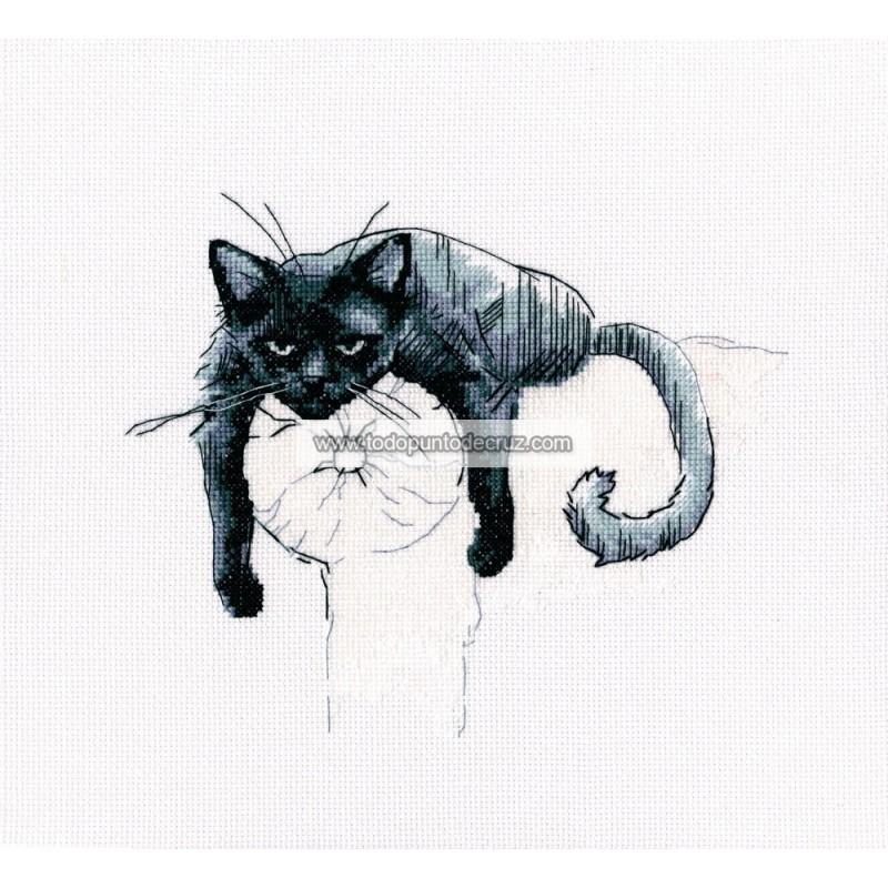 Gato Negro en el Sofá RTO M666 Among Black Cats