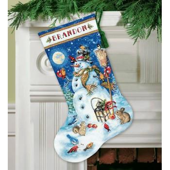 Bota Muñeco de Nieve y Amigos Dimensions 70-08839 Snowman & Friends Stocking
