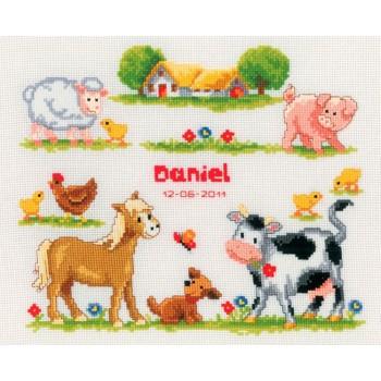 Natalicio Pequeños Animales de la Granja Vervaco PN-0011894 Farm Animals