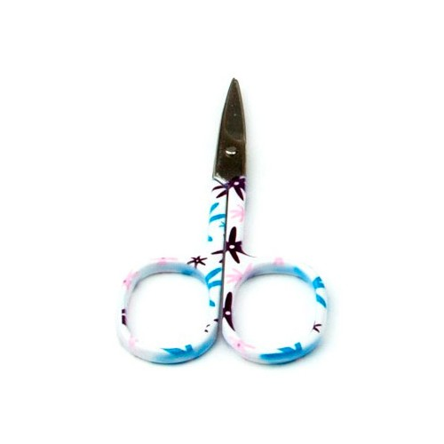Tijeritas de bordar estampadas flores azules