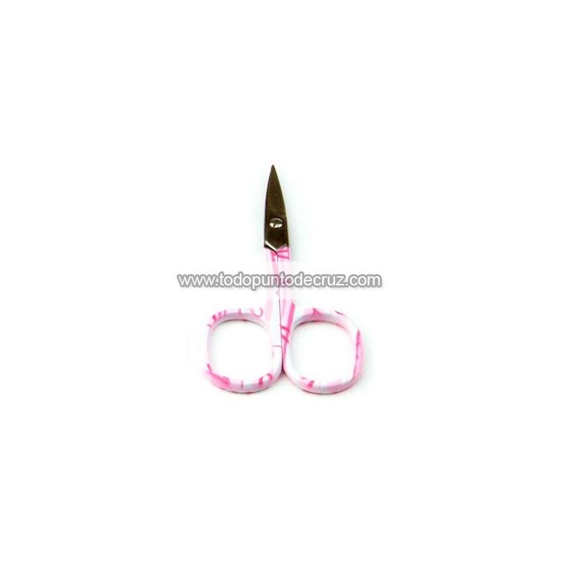 Tijeritas de bordar estampadas flores rosas
