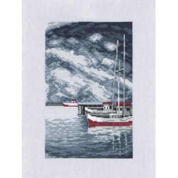 Barcos en la Tormenta Permin 12-0166 Pier & Boats