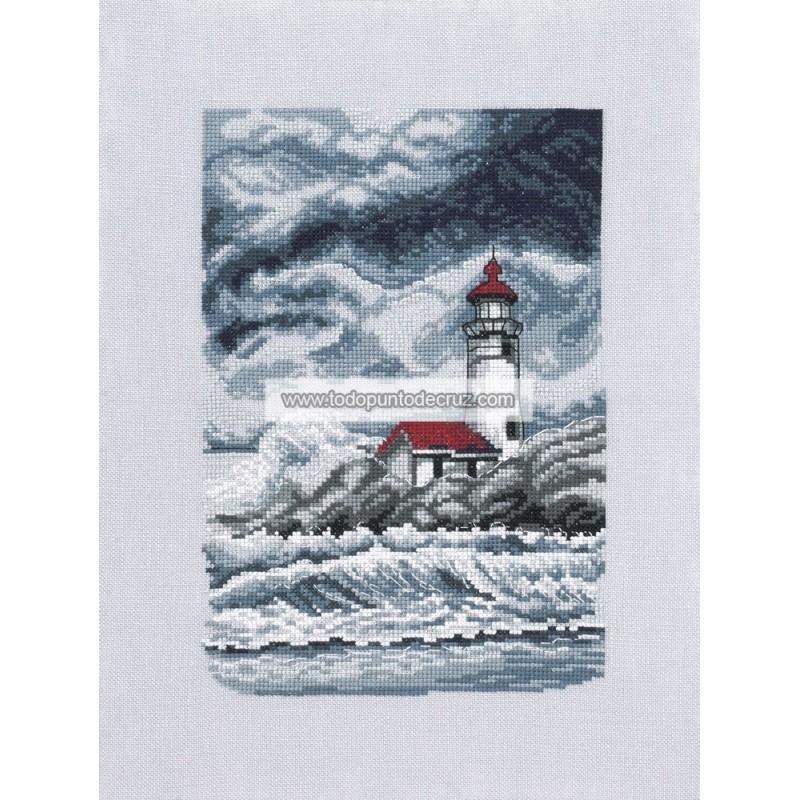Faro en la Tormenta Permin 12-0166 Lighthouse