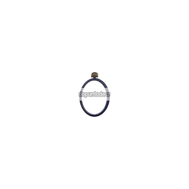 Marco/bastidor flexible de silicona Permin ovalado marino