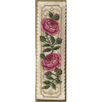 Marcapáginas Rosa de Damasco Textile Heritage BKDR Damask Rose Bookmark