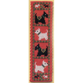 Marcapáginas Scotties & Westies Textile Heritage BKSW Bookmark