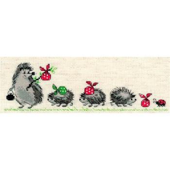 Erizos en fila RIOLIS 1711 Hedgehogs