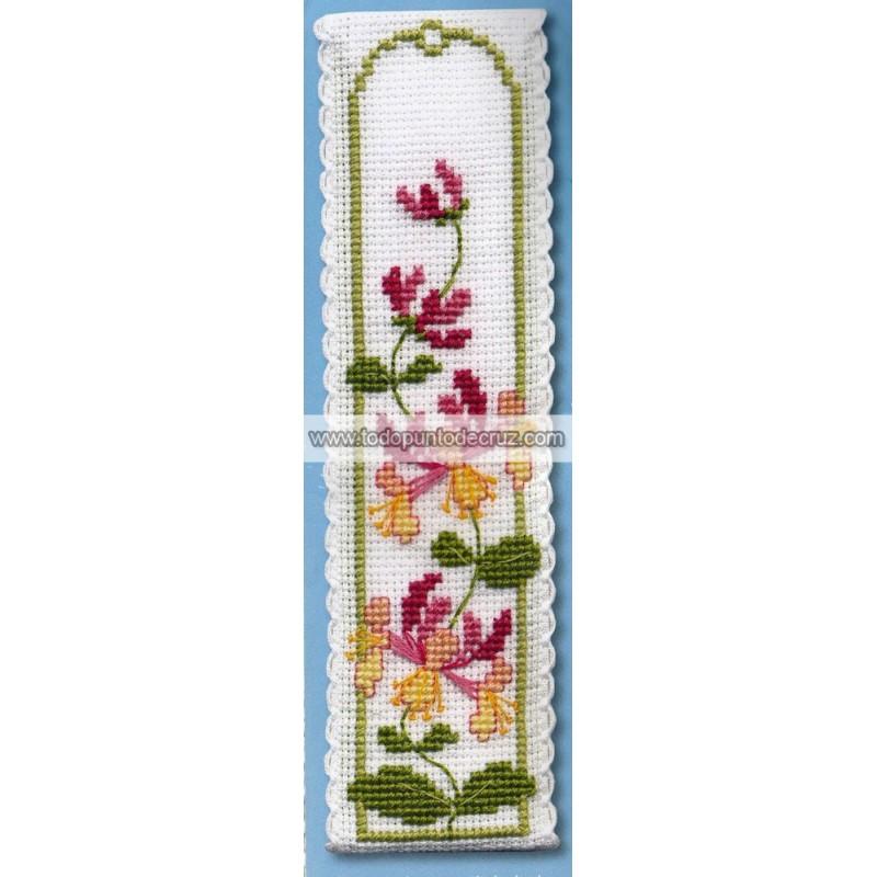 Madreselva marcapáginas Textile Heritage BKHN Honeysuckle bookmark