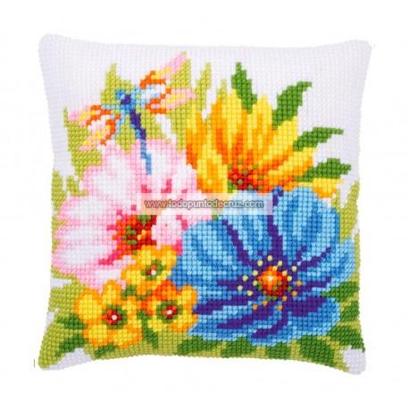 Cojín Primavera Anémonas Vervaco PN-0184985 Colourful Flowers Pillow