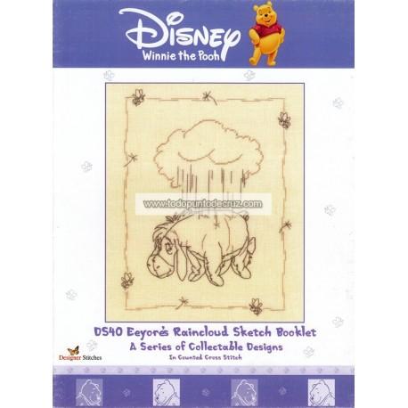 Classsic Pooh: Igor Designer Stitches DS40 Eyeore's Raincloud Sketch