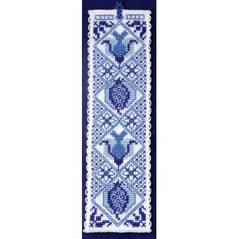 Marcapáginas Azul de Delft Textile Heritage BKDB Blue Bookmark